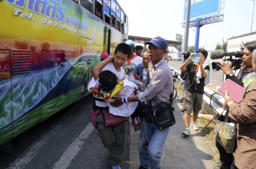 The protesters want PM Yingluck Shinawatra to resign to make way for an interim government [Reuters]