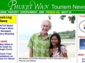 Screengrab of news website Phuketwan showing Alan Morison and Thai reporter Chutima Sidasathian, who are both due to face court. Photograph: Phuketwan