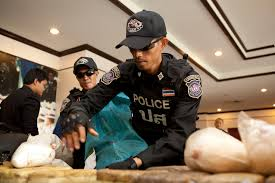 Police with 1,200,000 tablets of methamphetamine, and an earlier arrest yielding five kilograms of ice in Chiang Rai