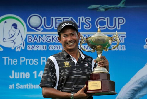 Thaworn Wiratchant pictured with the Queen's Cup trophy