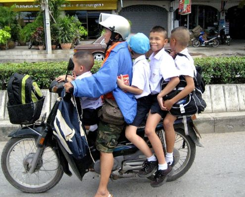 Over 15,800 Thai youngsters were injured and about 700 killed each year from motorcycle accidents