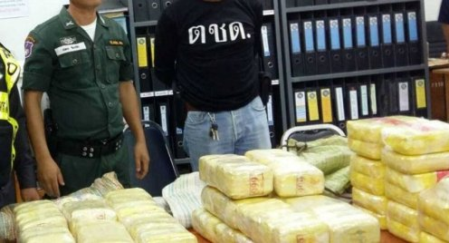 Former Intelligence Officer Arrested in Mae Chan, Chiang Rai With 114,000 Meth Pills and a Kilo of Crystal Meth