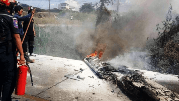 South African Dies in Fiery Plane Crash at Bang Phra Airport in Central Thailand