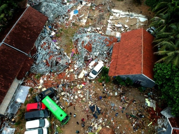 Hundreds Dead after Tsunami Strikes Indonesia Without Warning