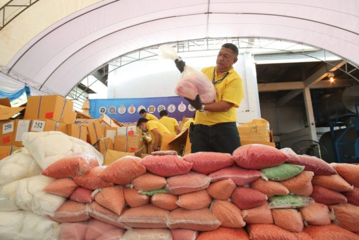 Thailand's Food and Drug Administration Incinerates 16.467 Tons of Seized Narcotics