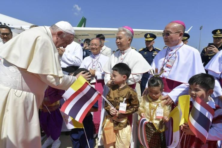 Pope Francis Arrives in Thailand to Joyous Fanfare and Excitement
