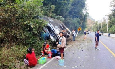 tour bus crashes Thailand
