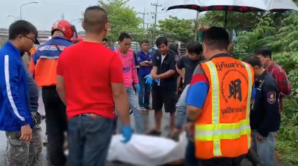 rescue worker hit and killed by speeding pickup at