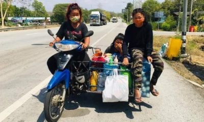 Destitute Mom Travels to Chiang Rai on Motorbike