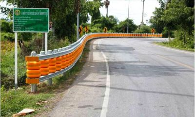 Thailand, Rubber barrriers, Roads