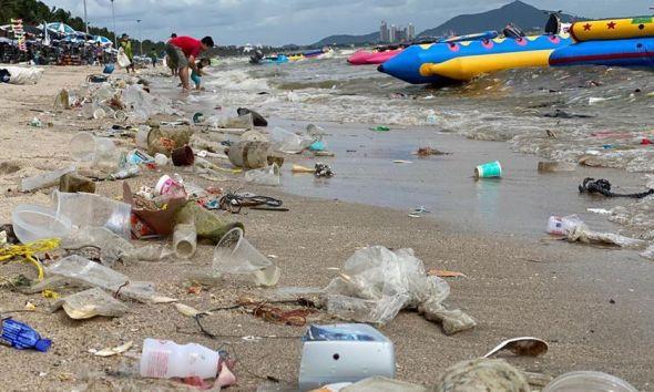 Bangkok, Trash, Litters beach