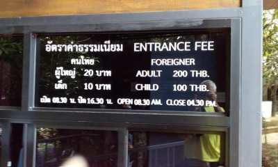 Foreigners, tourist attractions, Thailand