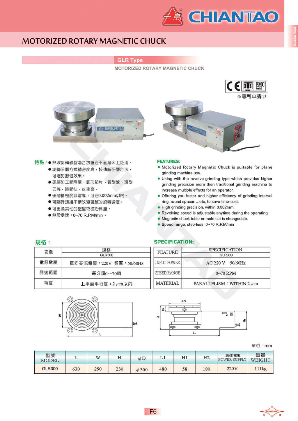hight resolution of page f5 glr type motorized rotary magnetic chuck