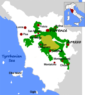 Chianti Wine Region in Tuscany