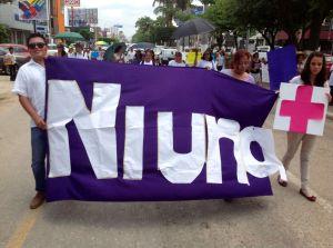 Marcha contra los feminicidios en Chiapas. Foto: Isaín Mandujano