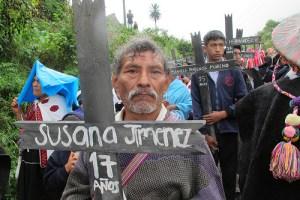 Sobrevivientes de Acteal en peregrinación. Foto. Ángeles Mariscal/ChP.