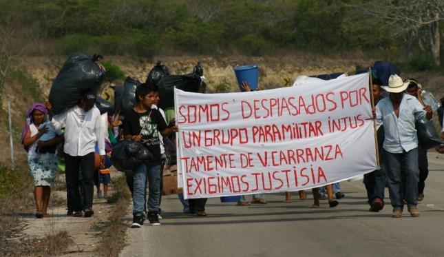 Las personas afectadas por los desplazamientos forzados en Chiapas son en su mayoría indígenas y campesinos. Foto: Ángeles Mariscal/ChiapasPARALELO