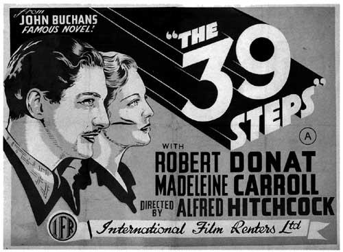 Los 39 escalones (The 39 steps, 1935) de Alfred Hitchcock (Londres, 1899 - Los Ángeles, 1980)