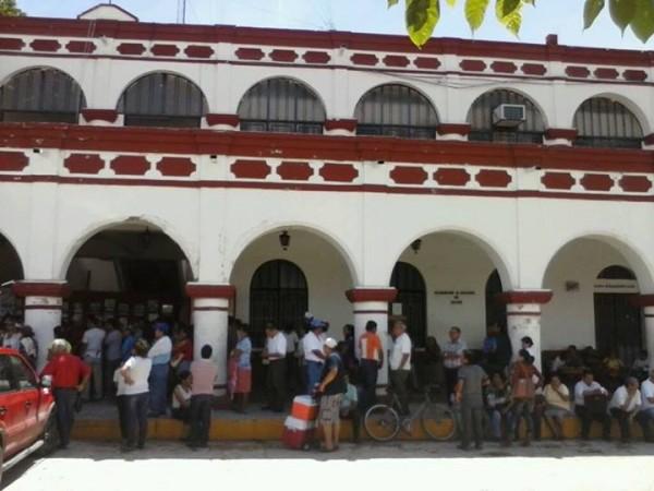 Así eastuvo la alcaldía de Chiapa de Corzo hoy. Fotos: Chiapas PARALELO.