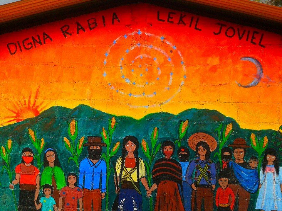 Mural zapatista chiapasparalelo for Mural zapatista