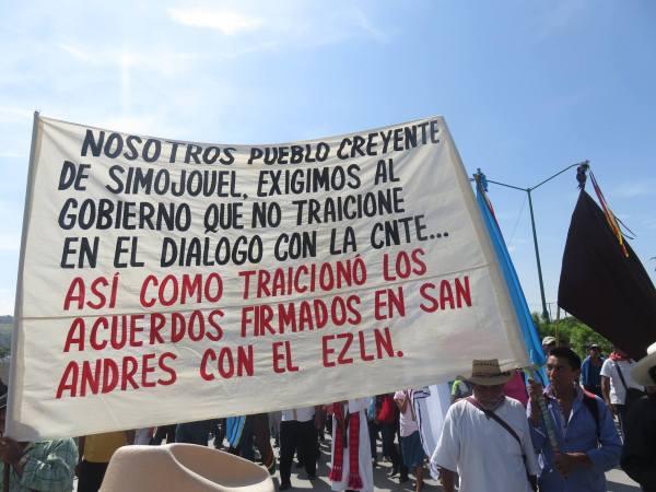 Marcha del Pueblo Creyente de Chiapas. Foto: Peregrinos