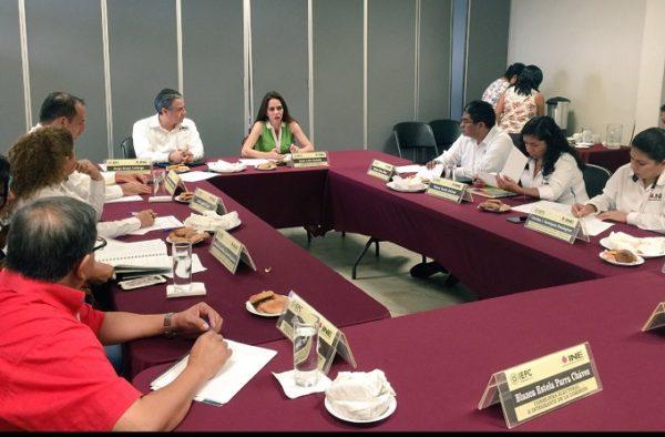 Reunión de trabajo INE-IEPC sobre educación cívica y capacitación electoral