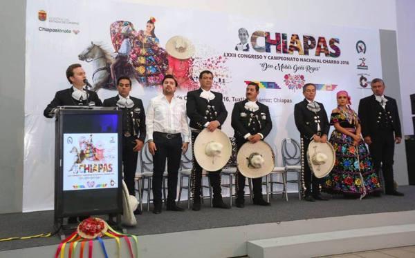 Inauguración del LXXII Campeonato y Congreso Nacional Charro. Foto: Gobierno de Chiapas