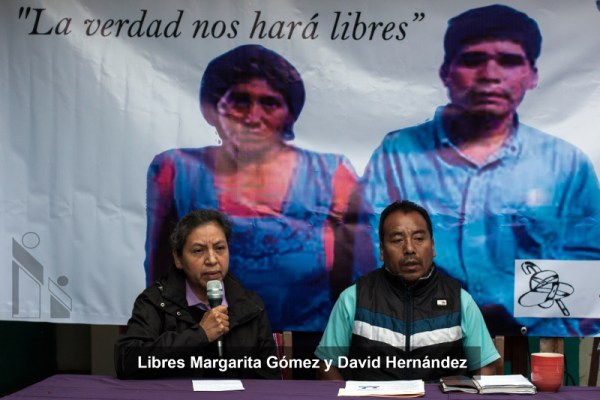 Margarita Gómez López y David Hernández Gómez. Foto: Frayba