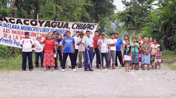 Habitantes del Soconusco se organizaron para impedir que sus territorios sean afectados por la industria minera. Foto: Cortesía
