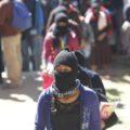 Zapatistas en encuentro con científicos. Foto: Chiapas Paralelo