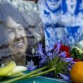 Altar en honor a Berta Cáceres en la Plaza de la Cruz - 2 de marzo 2018 (Foto Guancasco de Medios)
