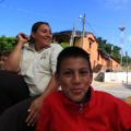 Hasta este 5 de noviembre, Josué y su madre habían recorrido unos 800 kilómetros desde Choloma, una población cercana a San Pedro Sula. Foto: Fredy Martín Pérez