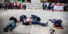 Sobrevivientes y víctimas de Viejo Velasco peregrinan a doce años de la Masacre.  Foto: Las Abejas de Acteal