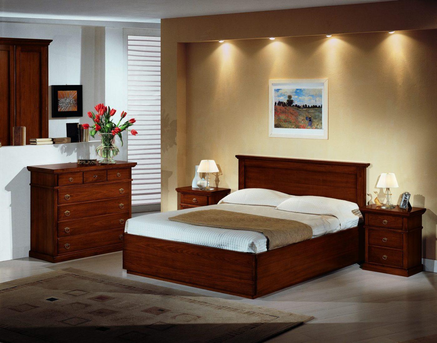 Camera da letto in stile modello Arte Povera