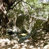 Au fond le pont génois en fin de randonnée, où nous avons mangé