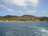 Limite entre les deux types de roches du sud de la Corse.