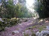 Les restes du sentier de muletier
