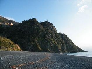 La plage noire de Nonza