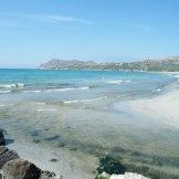 L'embouchure de l'Ostriconi. Il faut la traverser pour rejoindre la plage.