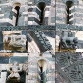 Voici des détails des sculptures