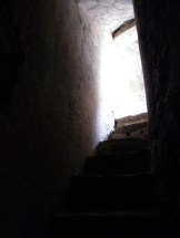 L'escalier qui monte au toit