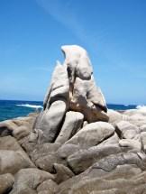 Un rocher sculpté par la mer