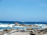 Au fond on aperçoit les îles Sanguinaires