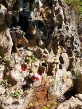 La fontaine au départ