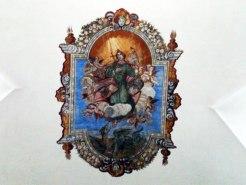 Au plafond de l'église Sainte-Marguerite