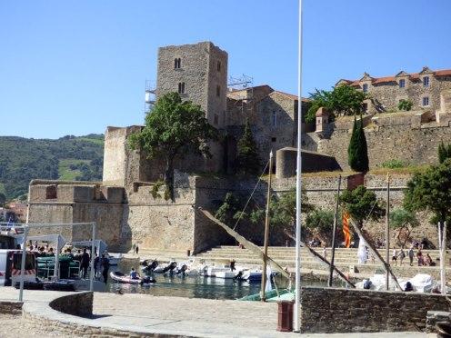Vue sur le château de Collioure