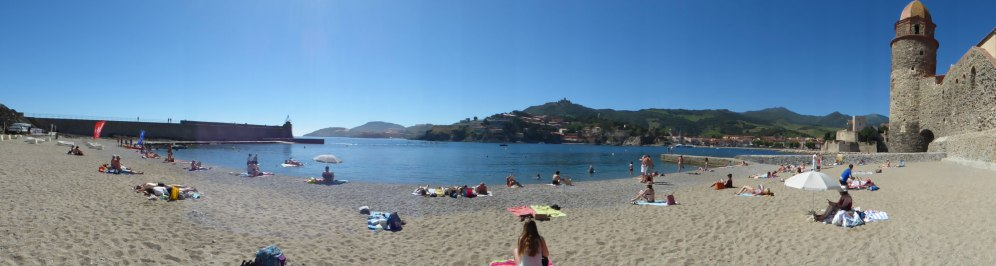 Panorama sur la plage