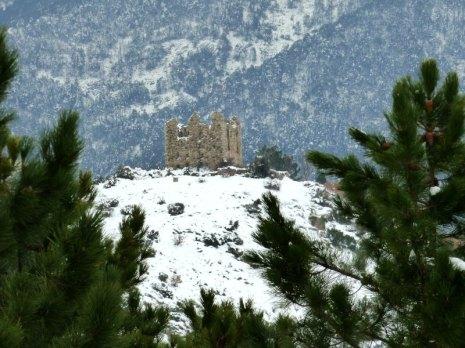 Le fortin de Pasciola sous la neige