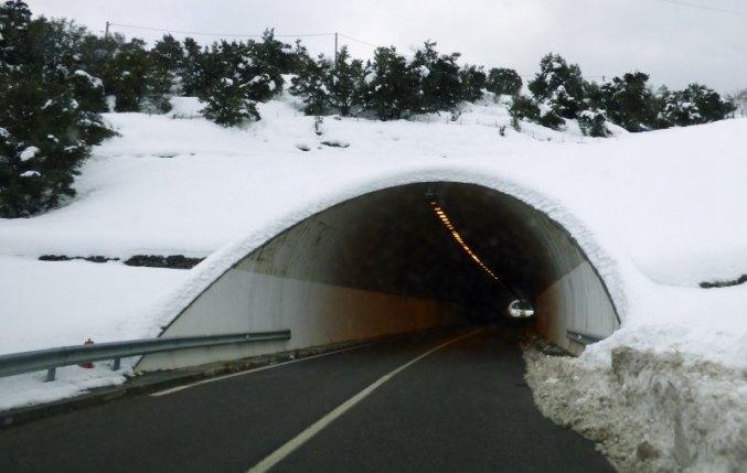 Le tunnel en direction de Bastia
