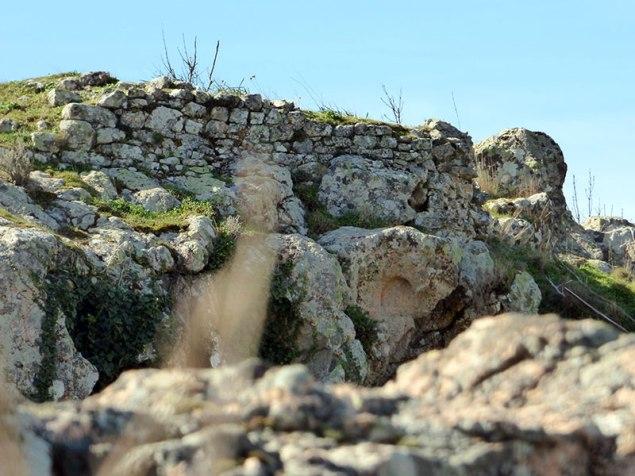 Les ruines d'un château